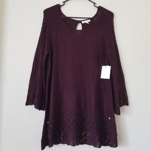 Lauren Conrad plum long sleeve sweater